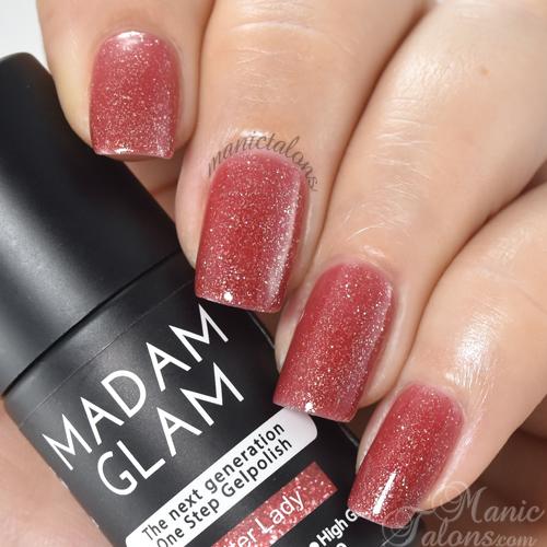 Madam Glam Gel Polish Glitter Lady Swatch