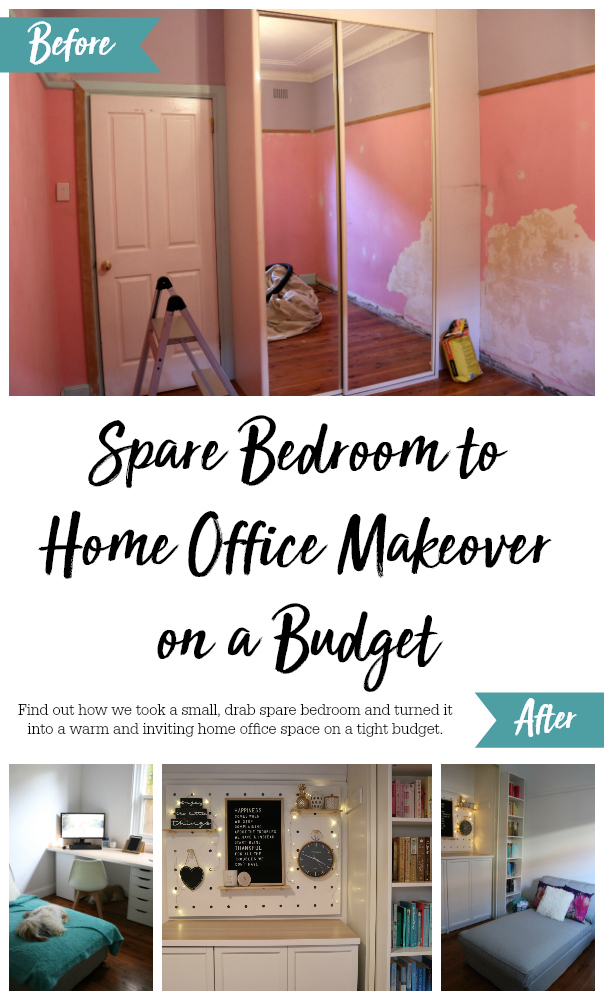 Spare Bedroom to Home Office Makeover on a Budget - Unique Home Office Ideas and How To's