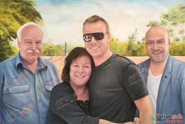 tranh chân dung gia đình