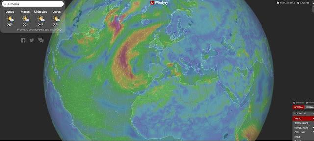 Vientos en superficie