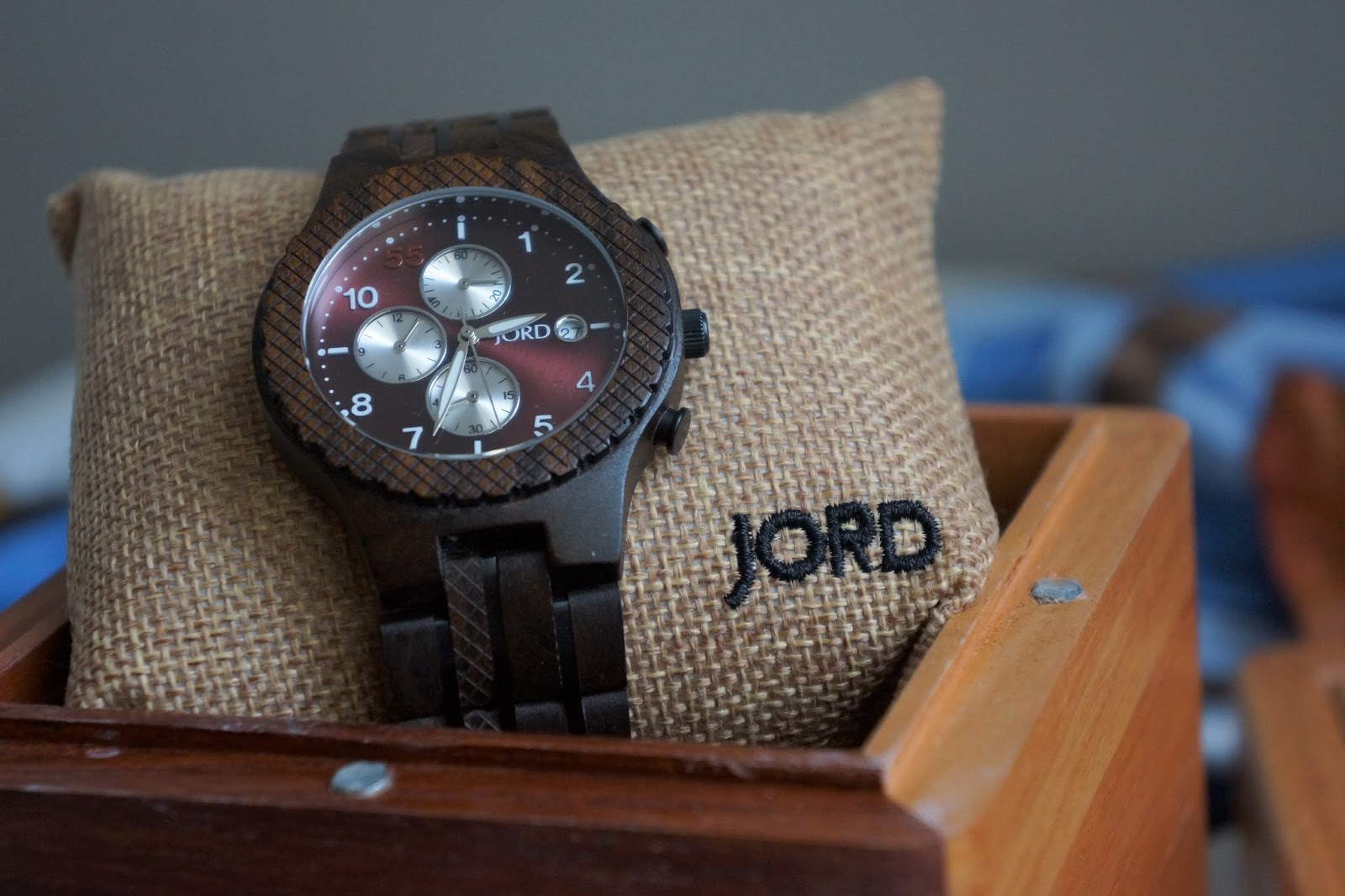 JORD Conway watch in a wooden gift box