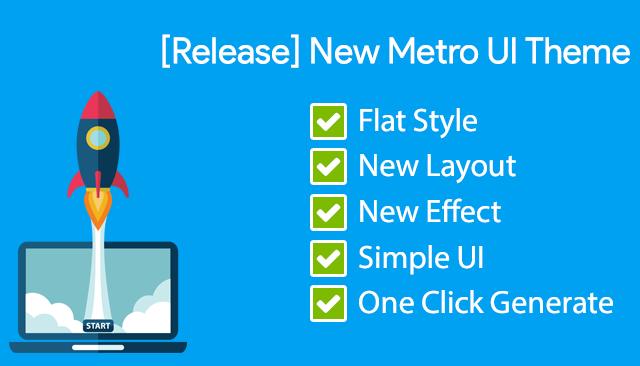 Rilis Metro UI Theme, Simple Dengan Metro Style - AdSafe Click