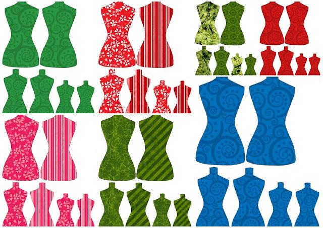 Free Printable Colored Torsos.
