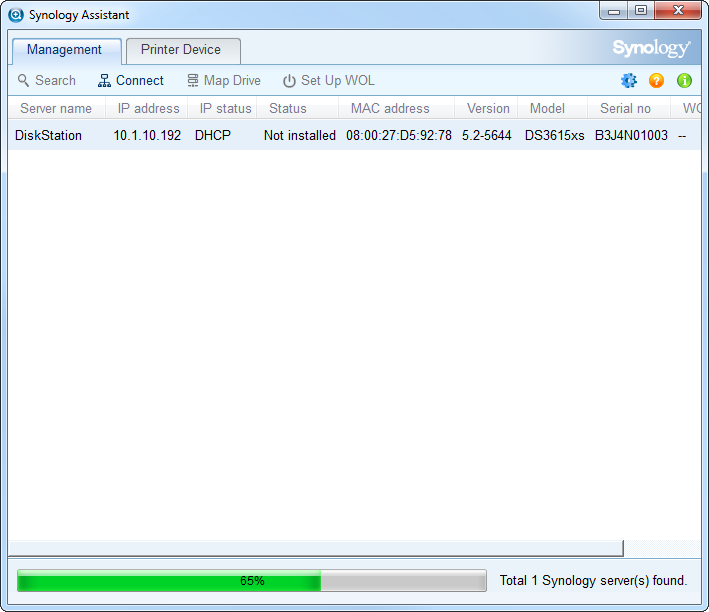 JotMyNotes: Synology DSM 5 2 and 6 1 on Virtual Box