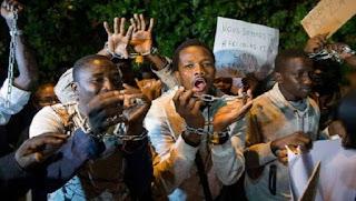 Video: Libya slave trade - Black man tied, stabbed severally by white men [VIDEO]