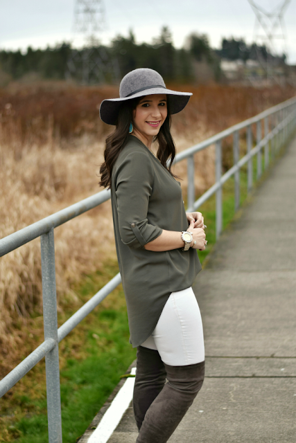 Teacher Outfit Inspiration: Over the Knee Boots and Tunic