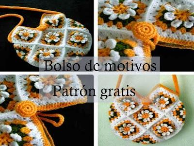 BOLSOS A CROCHET CON PATRONES GRATIS PARA TEJER ~ TODO PATRONES ...
