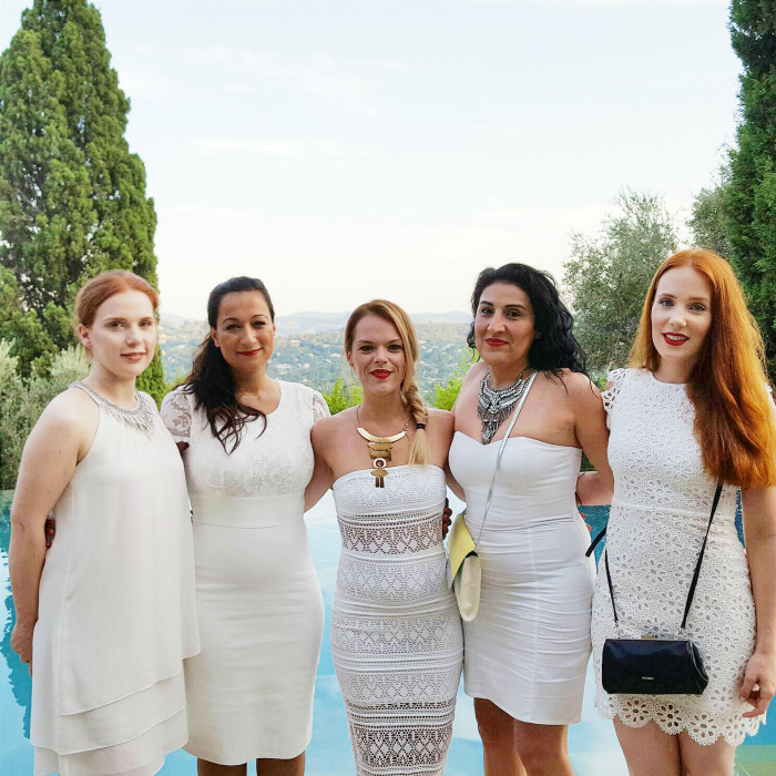 DESSANGE Paris - Blogger Event Cote d´Azur - White Party Le Castelet - Der blasse Schimmer, Daydesignn Fulya, Beautype, Madame Keke, Smoonstyle