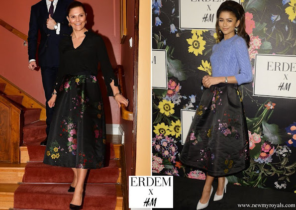Crown Princess Victoria wore a skirt from Erdem x HM collection