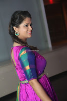 Shilpa Chakravarthy in Purple tight Ethnic Dress ~  Exclusive Celebrities Galleries 001.JPG