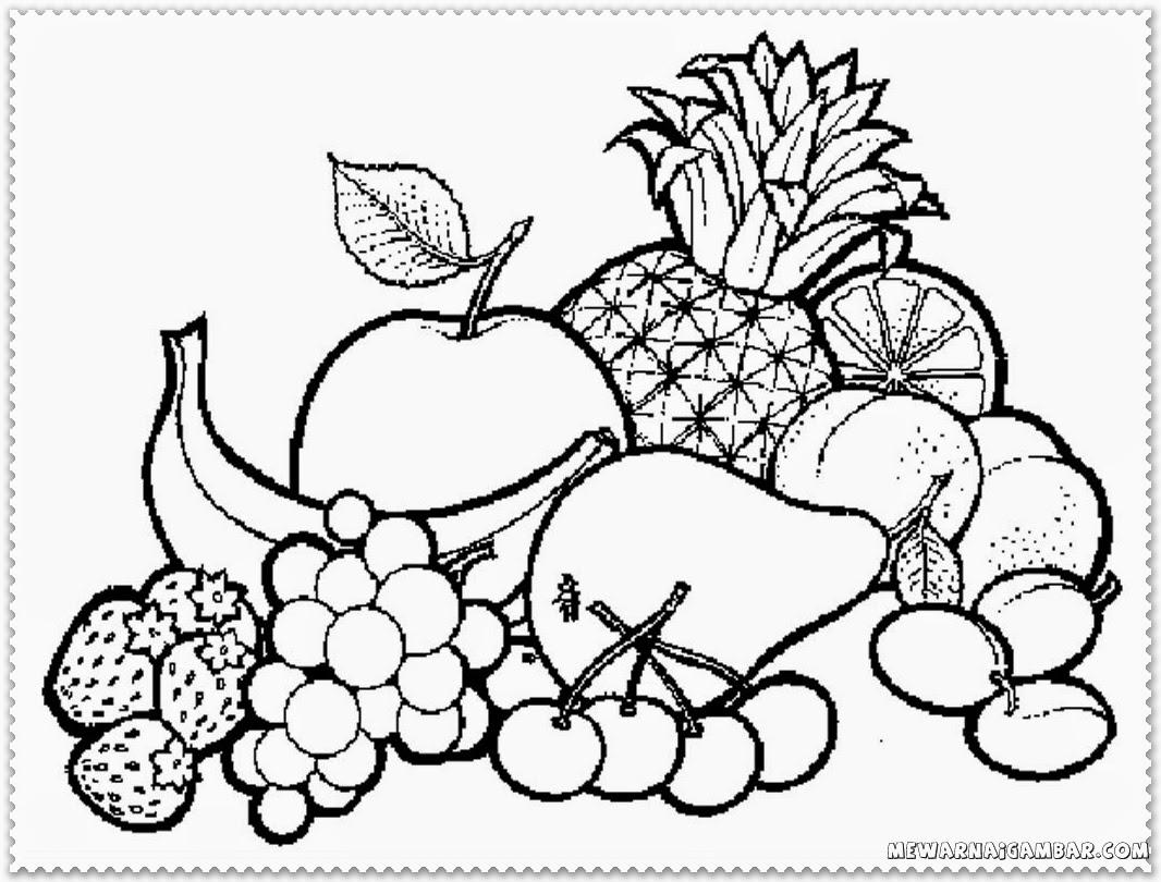 Fruit Basket Coloring Pages Printable - Free Printable ...