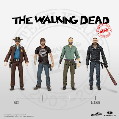 San Diego Comic-Con 2018 Exclusive The Walking Dead 15th Anniversary Rick Grimes Action Figure Box Set by Skybound x McFarlane Toys