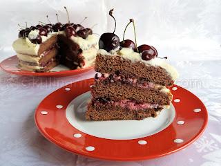 Шоколадова торта с череши и маскарпоне - рецепта