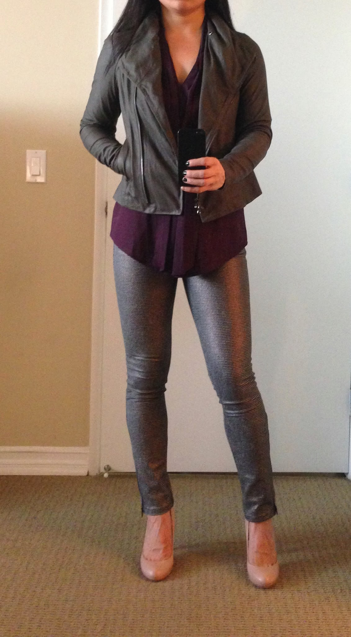 My Superficial Endeavors Vince Paper Leather Scuba Jacket
