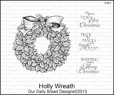 Stamps - Our Daily Bread Designs Holly Wreath
