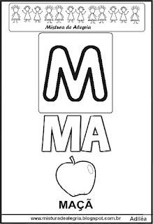 Cartaz das famílias silábicas do M