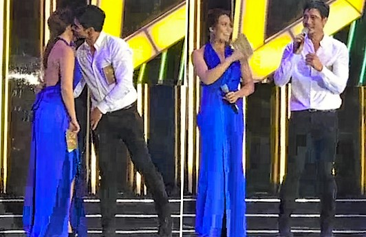 Piolo Pascual and KC Concepcion at the Abs-Cbn Christmas Special 2015