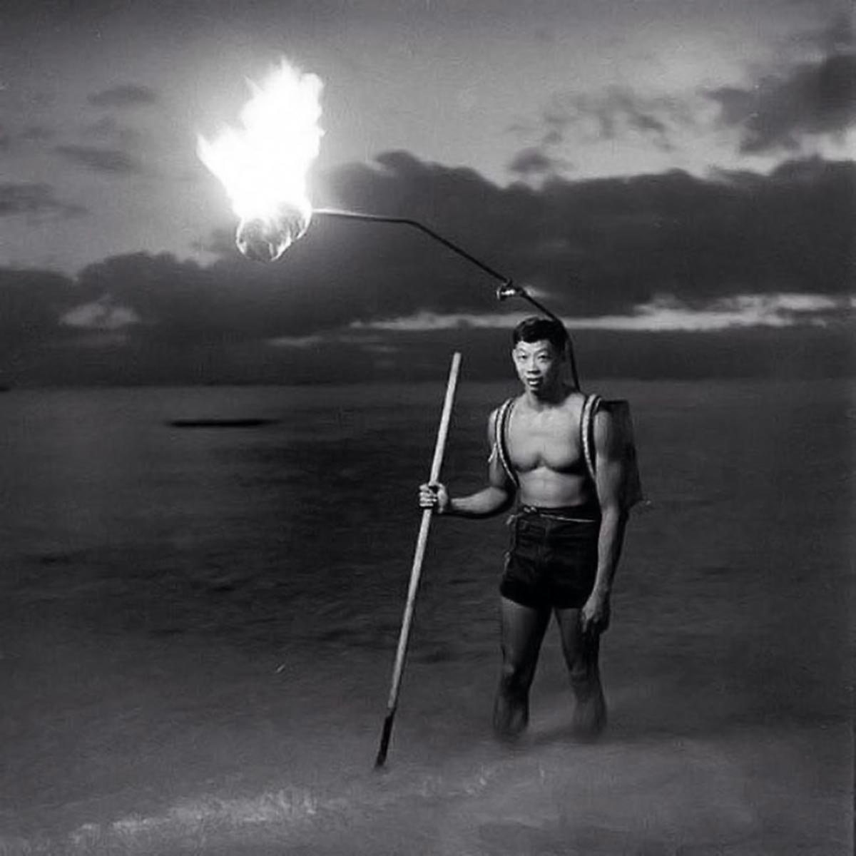 Night fishing in Hawaii, 1948.
