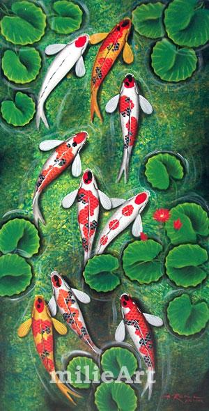 lukisan ikan koi 9