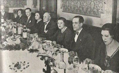 Cena homenaje a los fundadores de la revista Els Escacs a Catalunya en 1932
