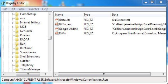 Registry detail