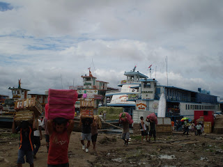 Unloading the docks at Iquitos