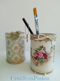 Reciclaje-latas-decopage-shabby-chic-vintage-Crea2-con-pasión-conjunto-terminado