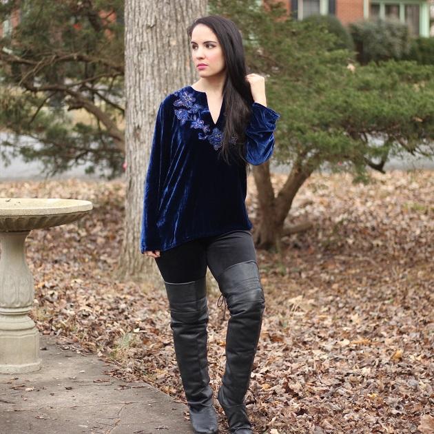 Blue Velvet Tunic
