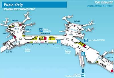 Plan aéroport Orly Ouest