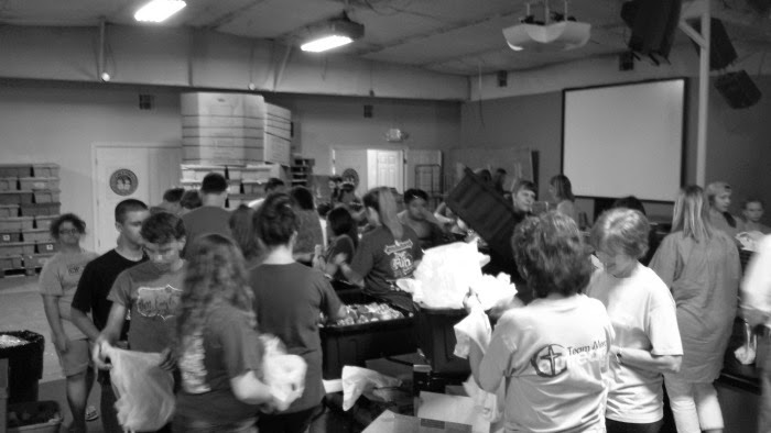 Volunteering at Snack Packs for Kids at the Samaritan Community Center