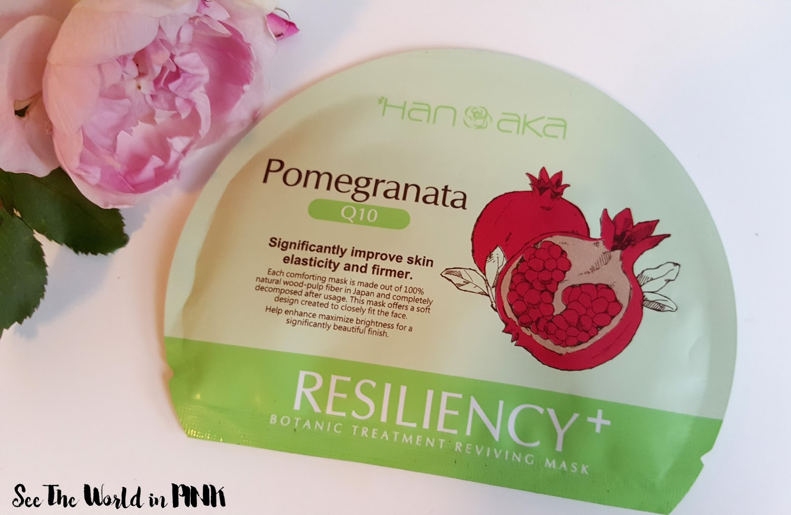 Hanaka Pomegranata + Q10 Resiliency Sheet Mask