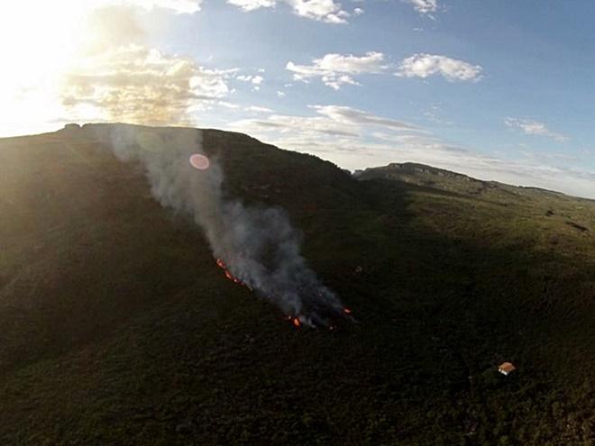 Incêndio florestal atinge região da Chapada Diamantina