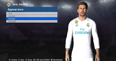 PES 2017 Face & Tattoo Sergio Ramos by Facemaker Ahmed El Shenawy