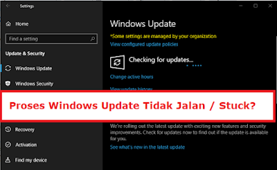 Cara mengatasi Windows Update Tidak Jalan atau stuck di 0%, pada Windows 7, Windows 8 dan Windows 10.  Cara mengatasi error Windows update