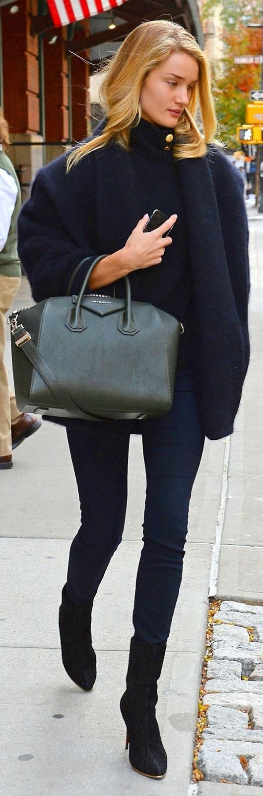 skinny jeans + coat