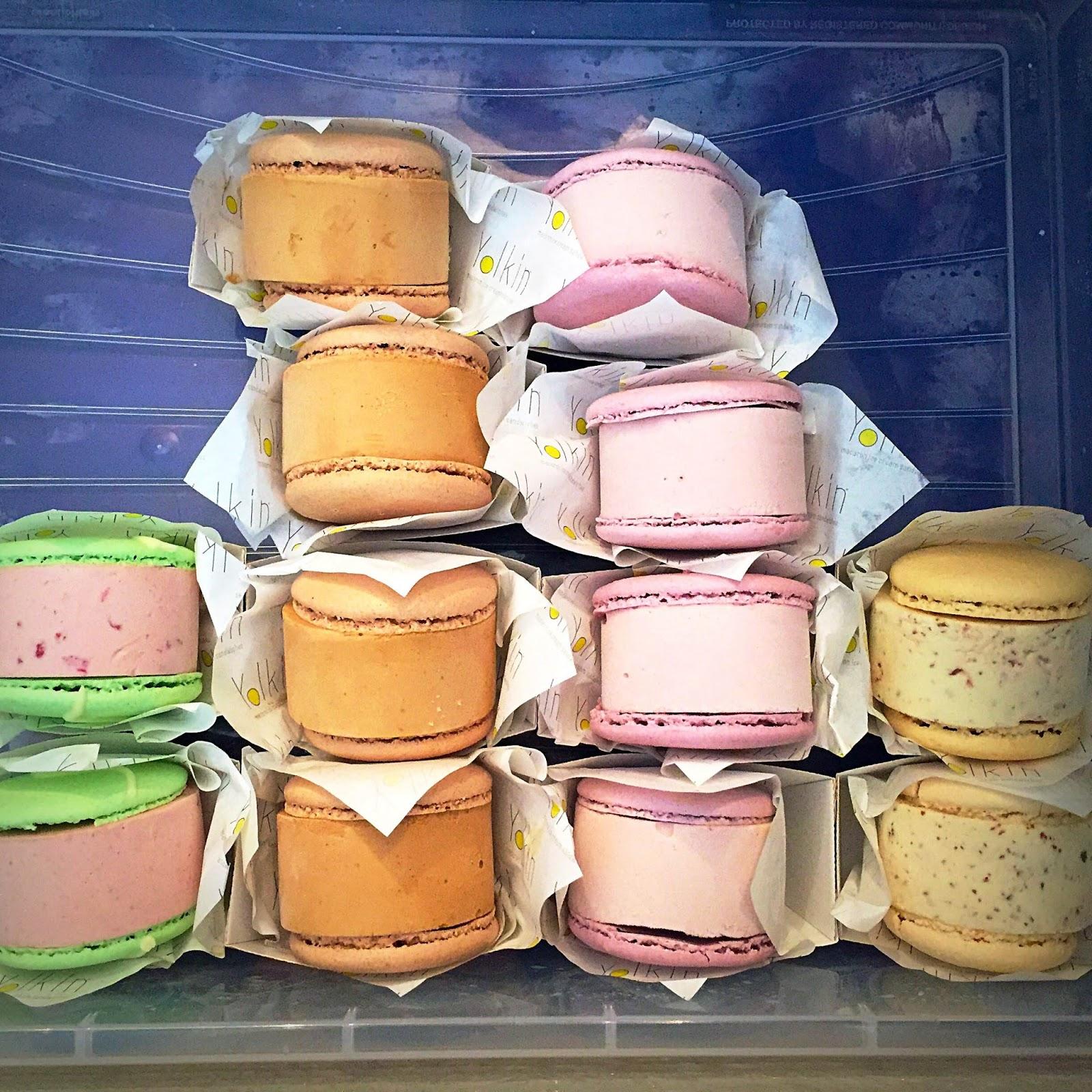 Yolkin ice cream macarons
