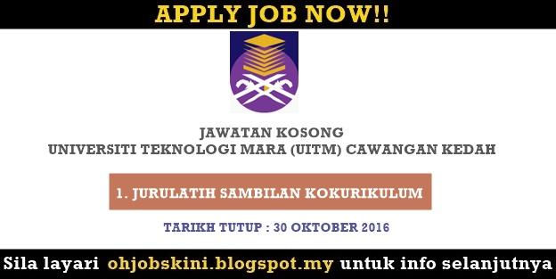 Jawatan Kosong Universiti Teknologi Mara (UiTM) Kedah