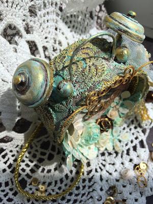 будильник альтер-скрап бобина скотч самодельный скрапбукинг