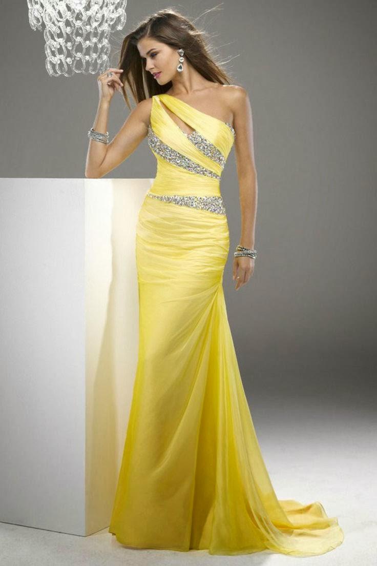 Remarquable Robe de Bal: Robes de bal de couleur jaune OM-17