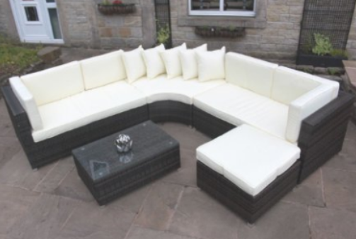 Rattan Outdoor Curved Corner Sofa Set Garden Furniture, Outdoor Furniture, Curved Patio Furniture, Modern Curved Sectionals, Curved Sectional, Curved Patio Furniture,