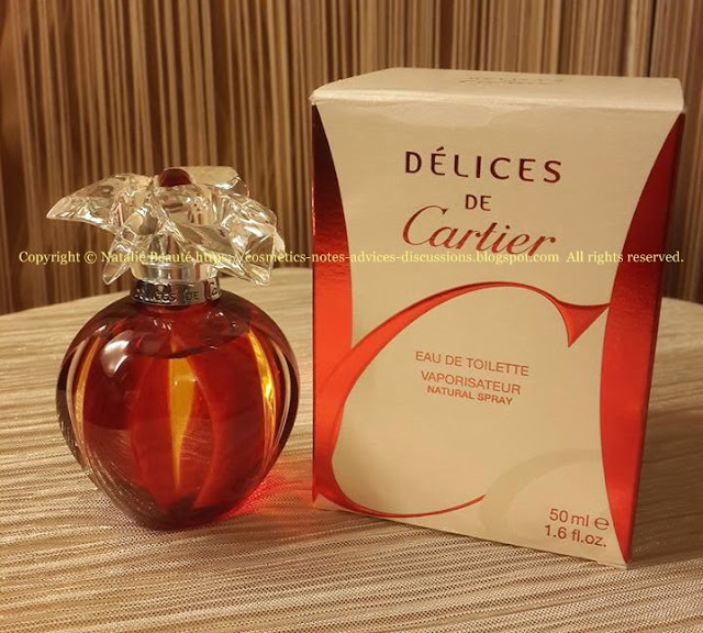 DELICES DE CARTIER by Cartier PERSONAL PERFUME REVIEW AND PHOTOS NATALIE BEAUTE