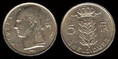 Belgium 5 Francs (1948-1981) Belgique 1978