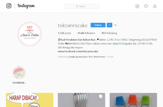 Toko Anns Cake - Toko Bahan Kue Online Instagram
