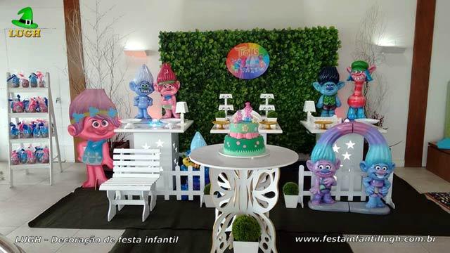 Provençal simples- Decoração para festa de aniversário infantil tema Trolls