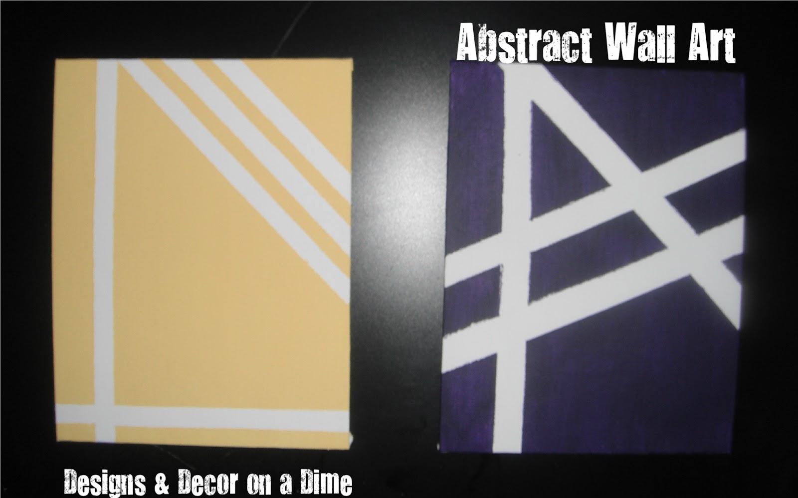 Designs & Decor on a Dime: Canvas Love - Wall Art