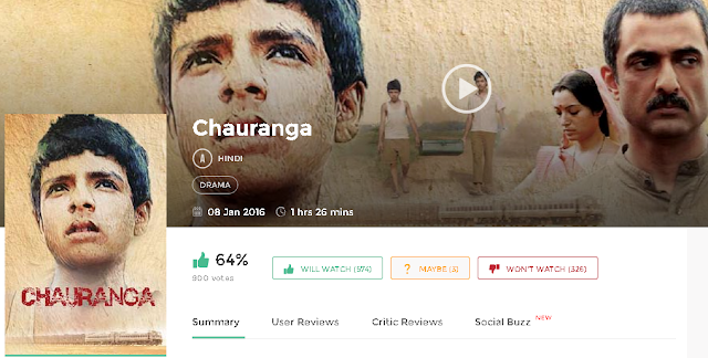 Chauranga 2016 Hindi Movie 300Mb & 700mb HD