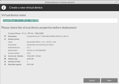 Create new virtual device