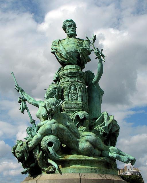 Monument to Francis Garnier by Denys Puech, Place Camille-Jullian, Paris