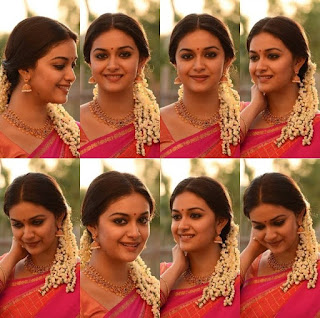 Keerthy Suresh in Saree with Cute and Lovely Smile 1