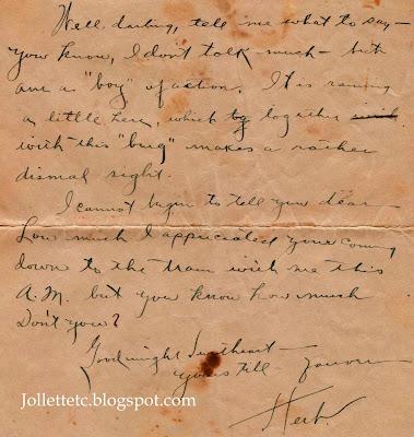 Letter from Herbert Parker to Helen Killeen Jan 1926 https://jollettetc.blogspot.com